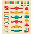 Big retro ribbons and labels set vector image