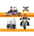 biker culture design vector image