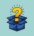 cardboard box with question mark coming out vector image
