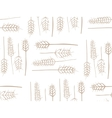 Cereal Plant Seamless Pattern vector image