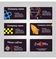 Clean business card A set of six template in dark vector image
