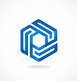cube geometry line 3D logo vector image