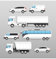 Realistic Transport Icons Set vector image