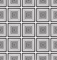 seamless monochrome ornament squares vector image