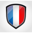 Shield with flag inside - France vector image