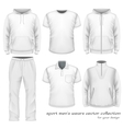 Sport men wear collection vector image
