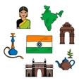 Welcome to India colorful sketch for travel design vector image