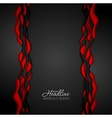 Abstract contrast red black wavy corporate vector image