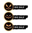 helloween sale off stickers vector image