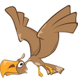 Cute Eagle Cartoon Character vector image
