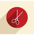 scissors barbershop vector image