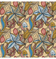 seamless hand drawn floral pattern vector image vector image