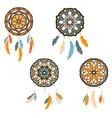 Set of freehand dreamcatchers Ethnic vector image
