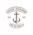 seafood badge vector image