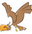 Cute Eagle Cartoon Character vector image