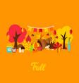 fall greeting card vector image