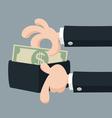 Hand offering money vector image