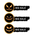 helloween sale off stickers vector image