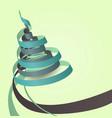 paper ribbons - christmas tree vector image