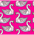 seamless pin-up pattern with white swan princess vector image