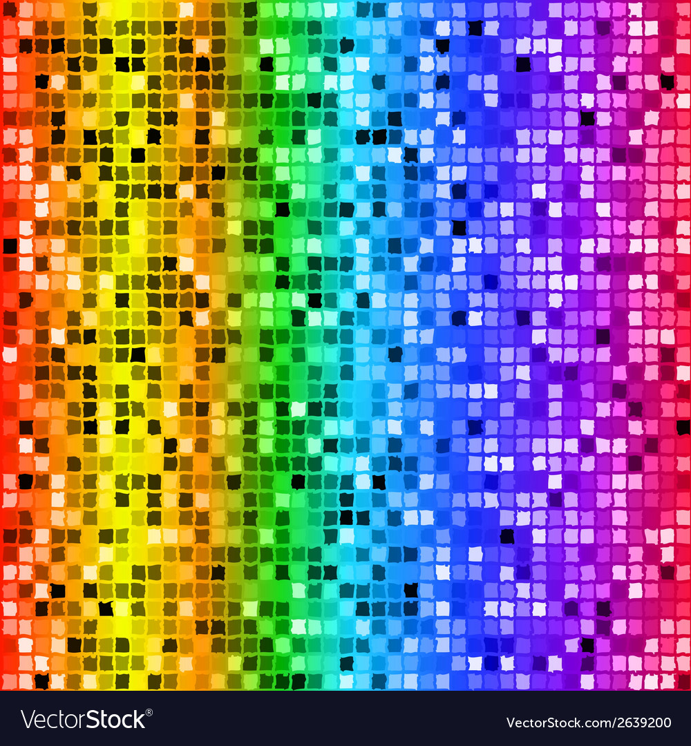 Bright rainbow colored rectangle mosaic seamless vector