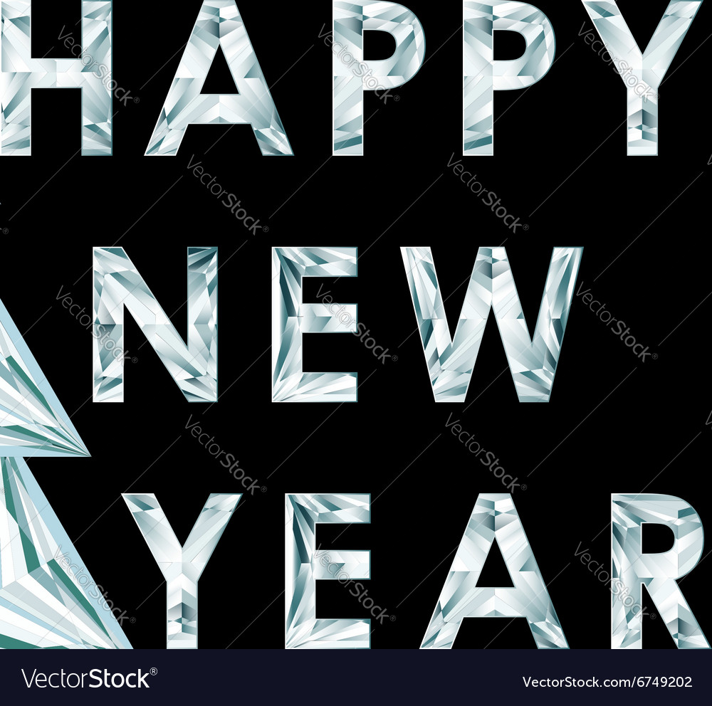 Happy new year inscription vector