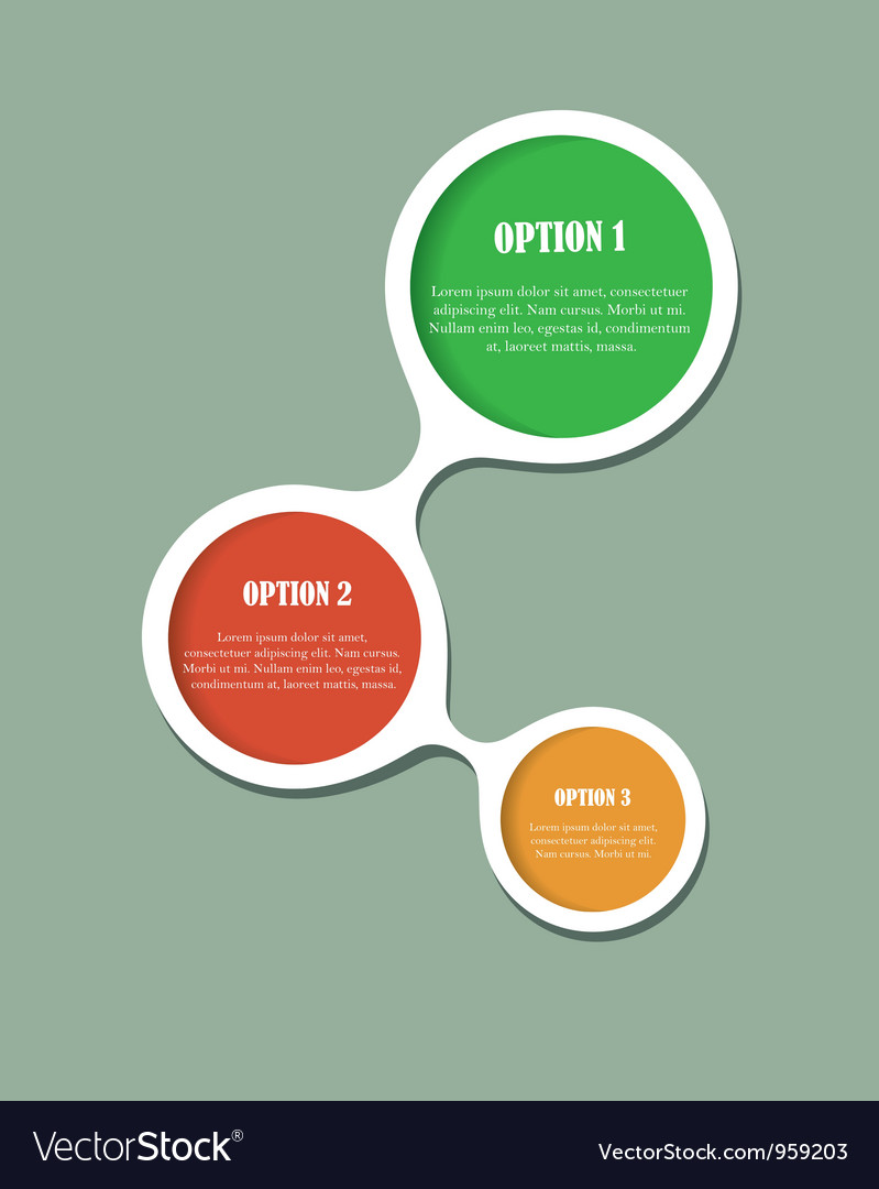 Abstract web design option bubbles vector