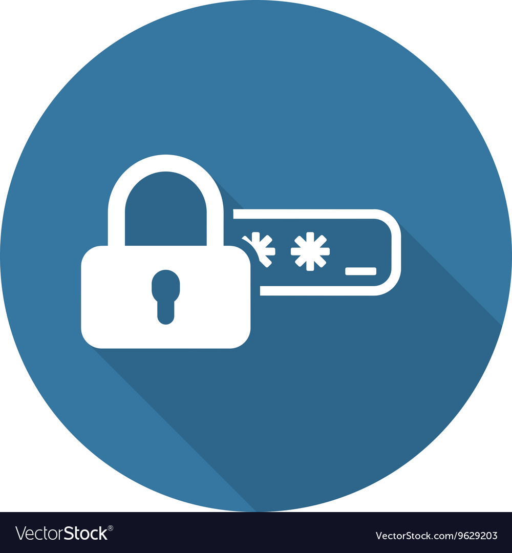 Safety access and password protection icon vector