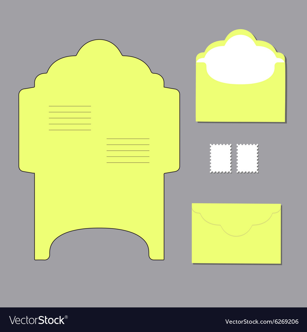 Envelope templates vector