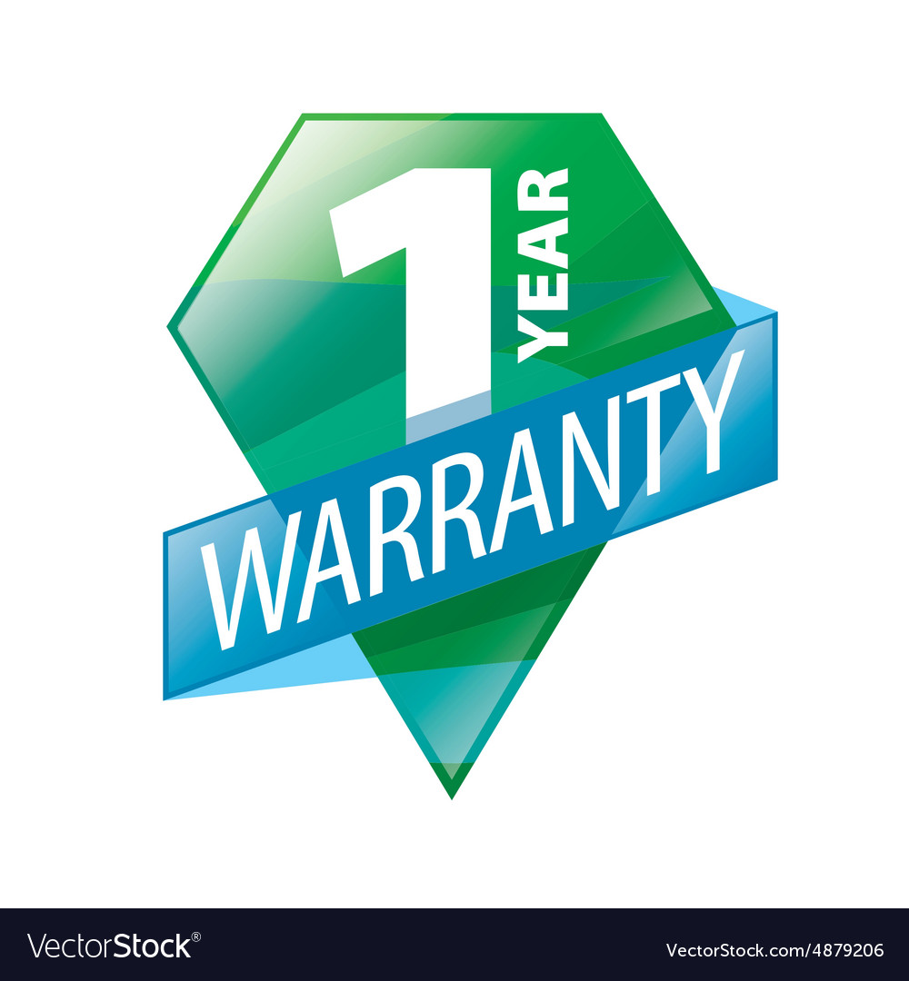 Logo 1 year guarantee in the form of shield vector