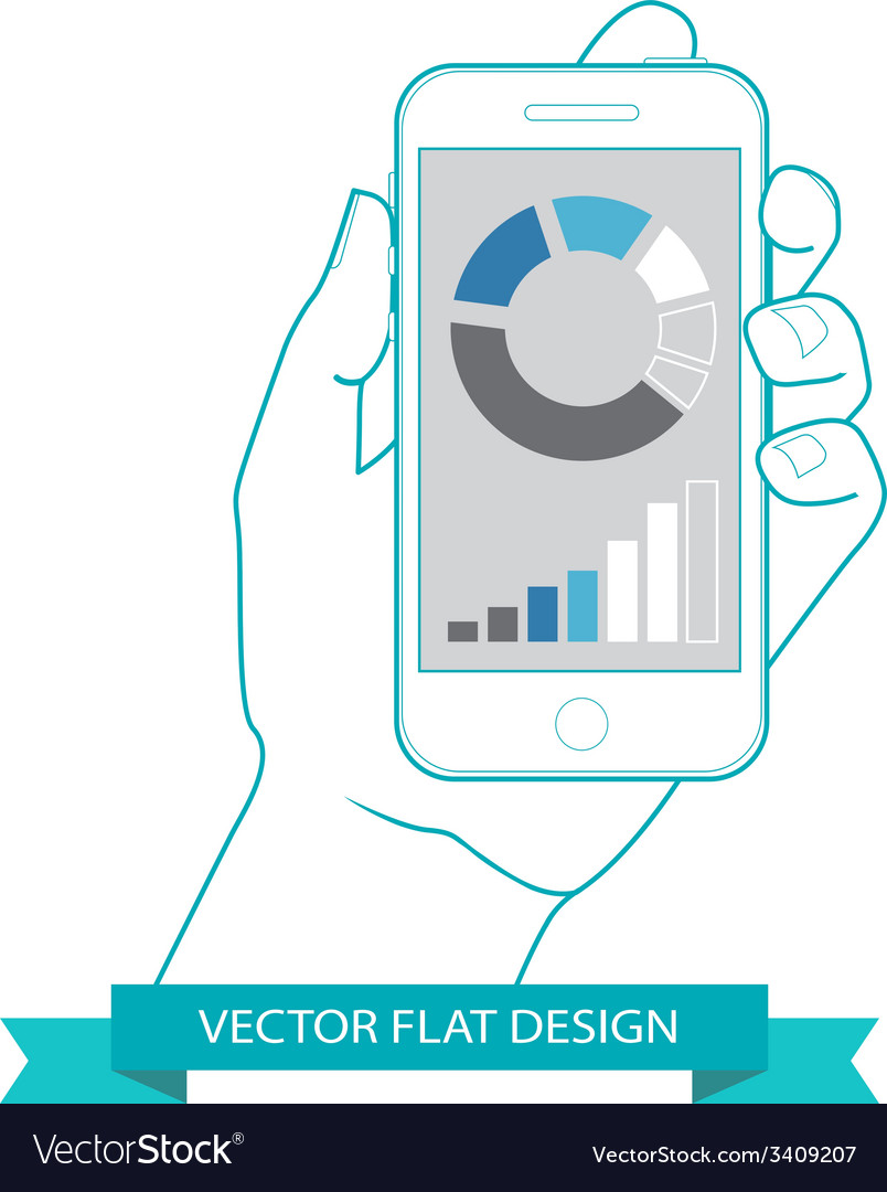 Flat countour design vector