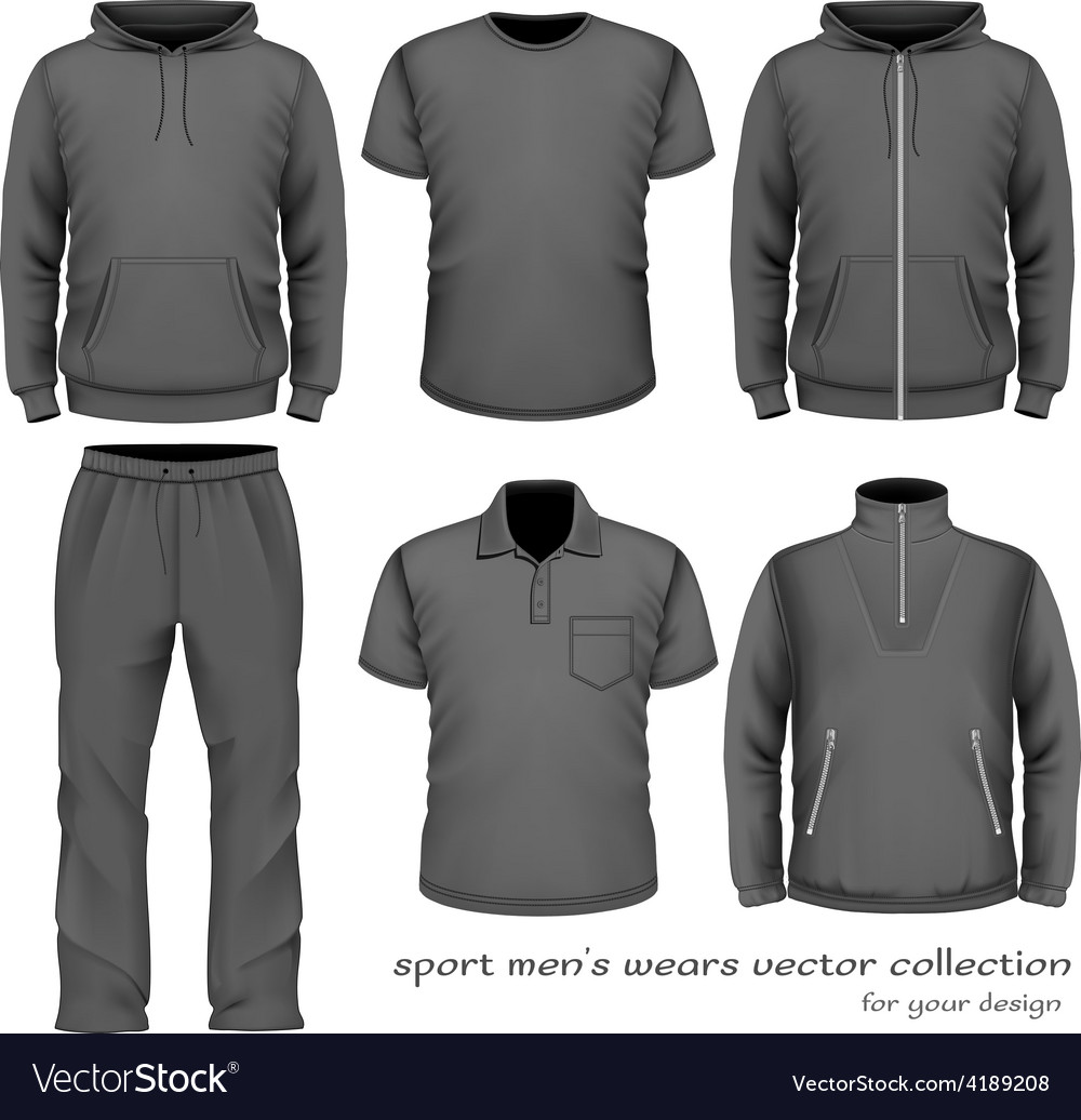 Sport men wear collection vector