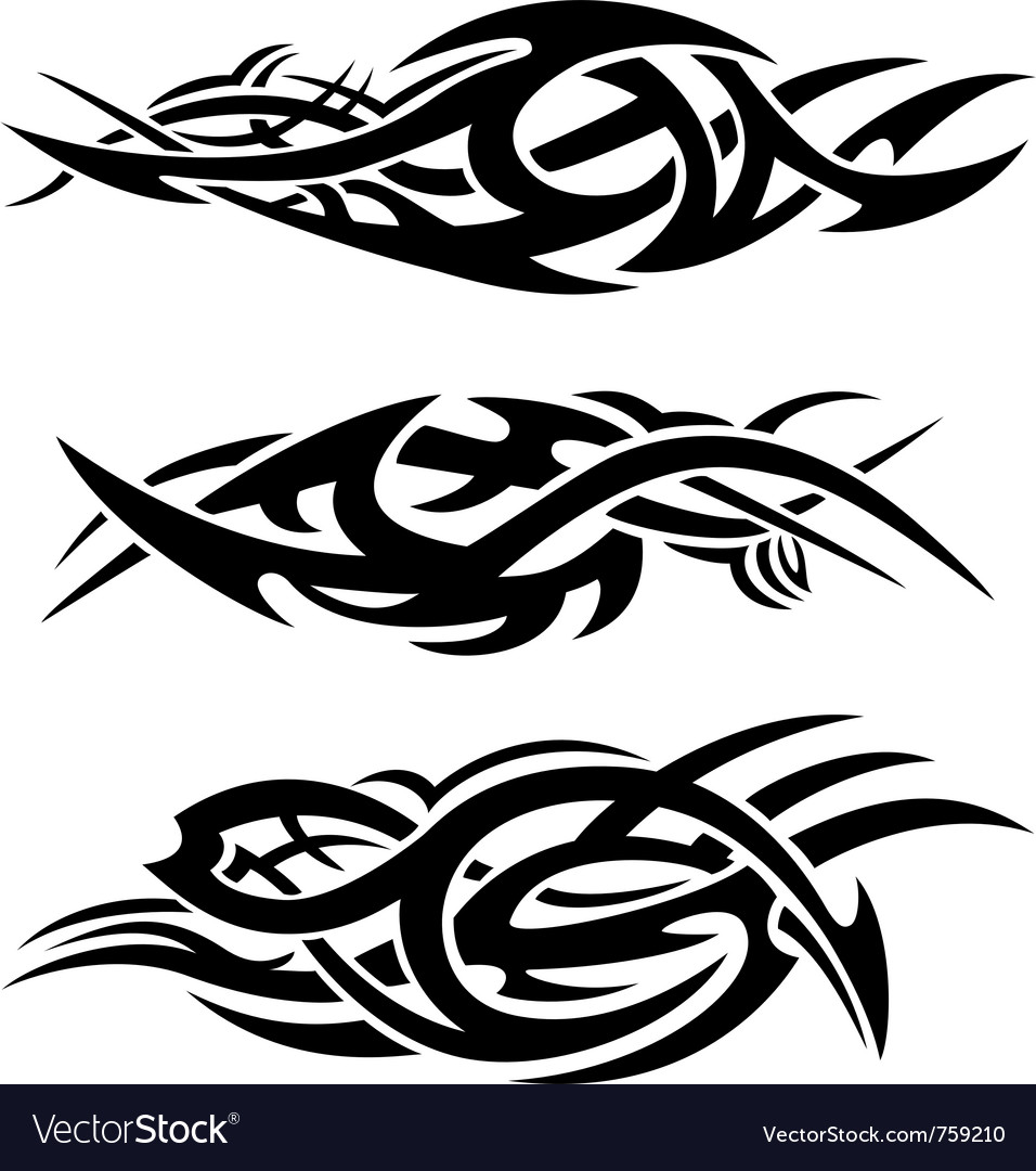 Abstract tribal flames vector
