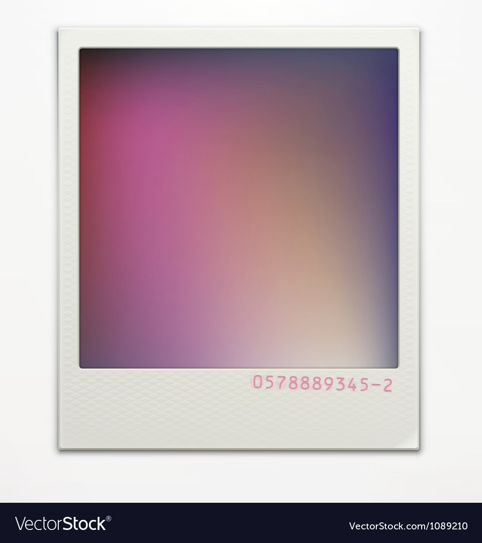 Polaroid photo frame vector