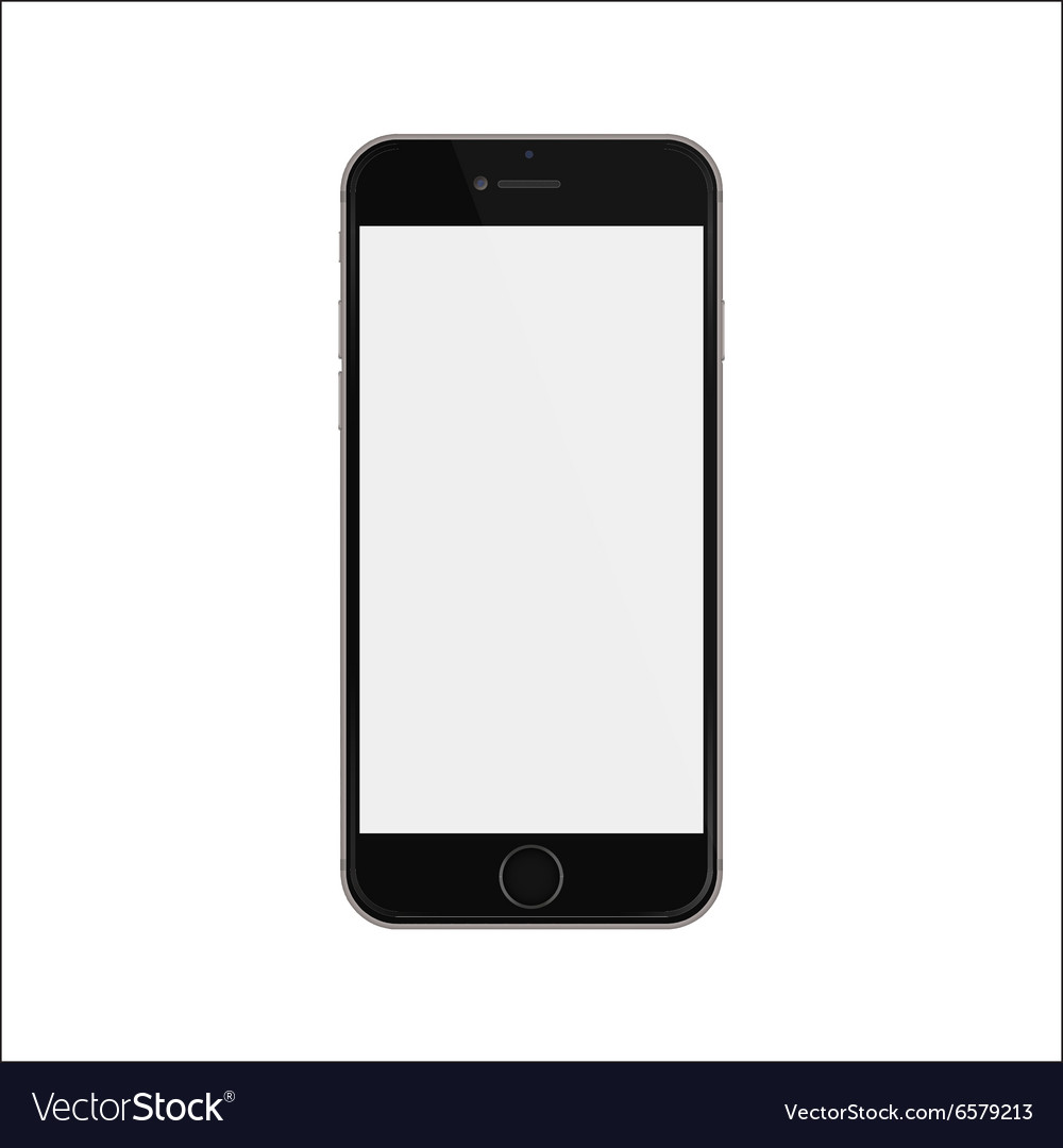 New version of black slim smartphone iphon style vector