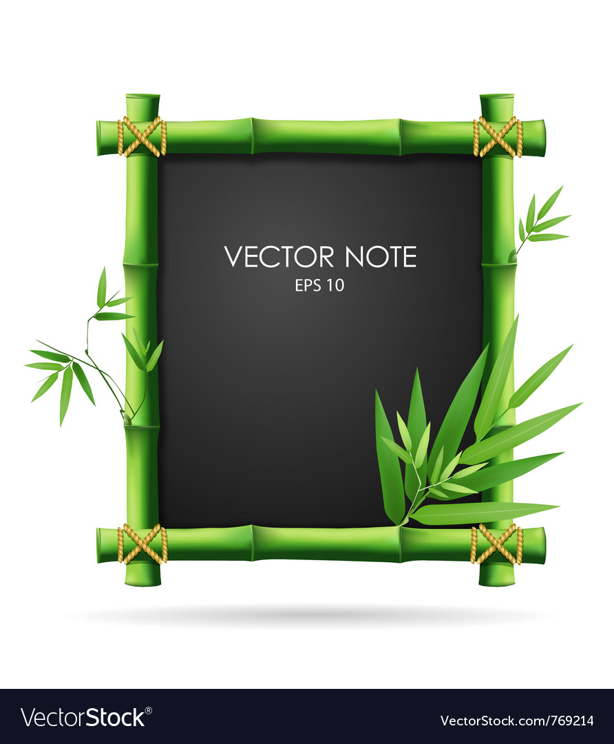 Bamboo blackboard vector