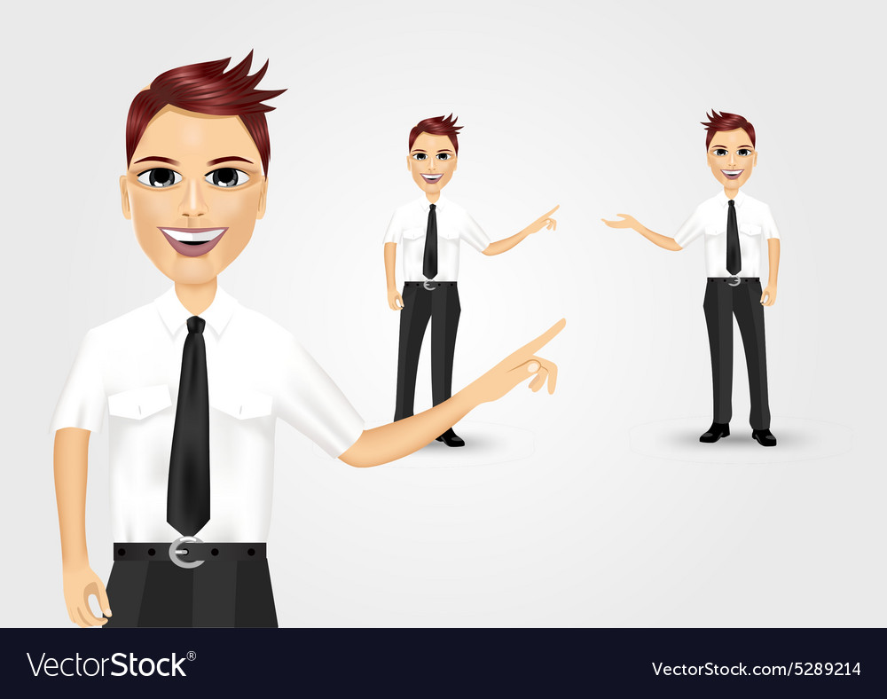 Business man pointing at something vector