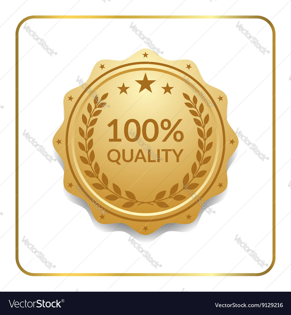Seal award gold icon medal vector