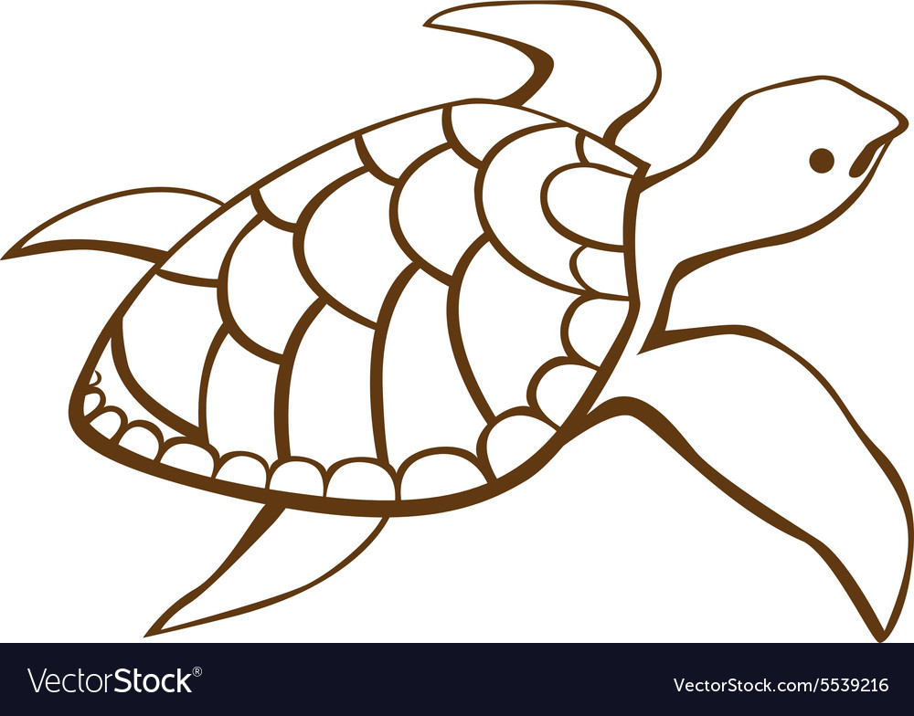 Stylized turtle vector
