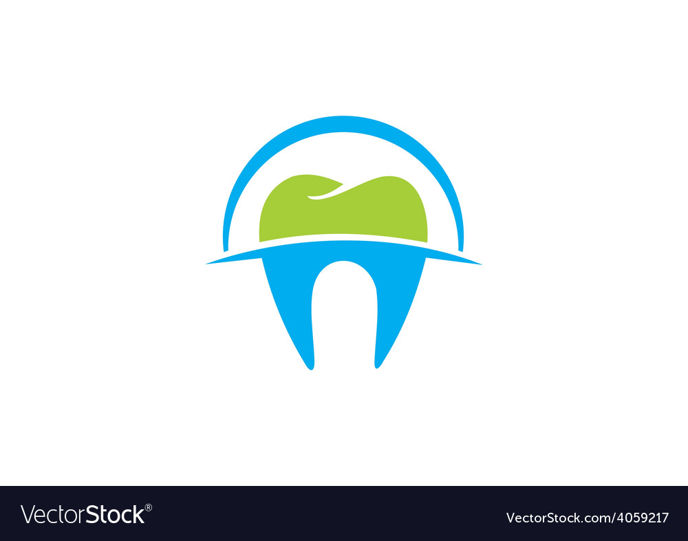 Dentist teeth abstract logo vector