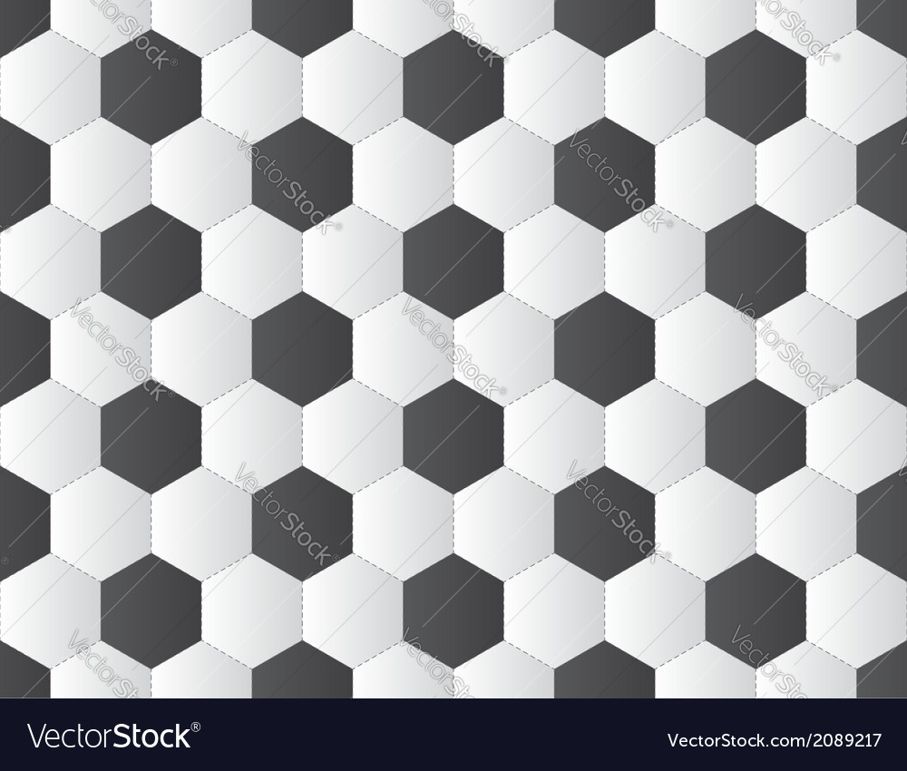 Soccer ball pattern vector