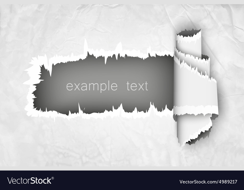 Torn paper hole in the notebook sheet i vector