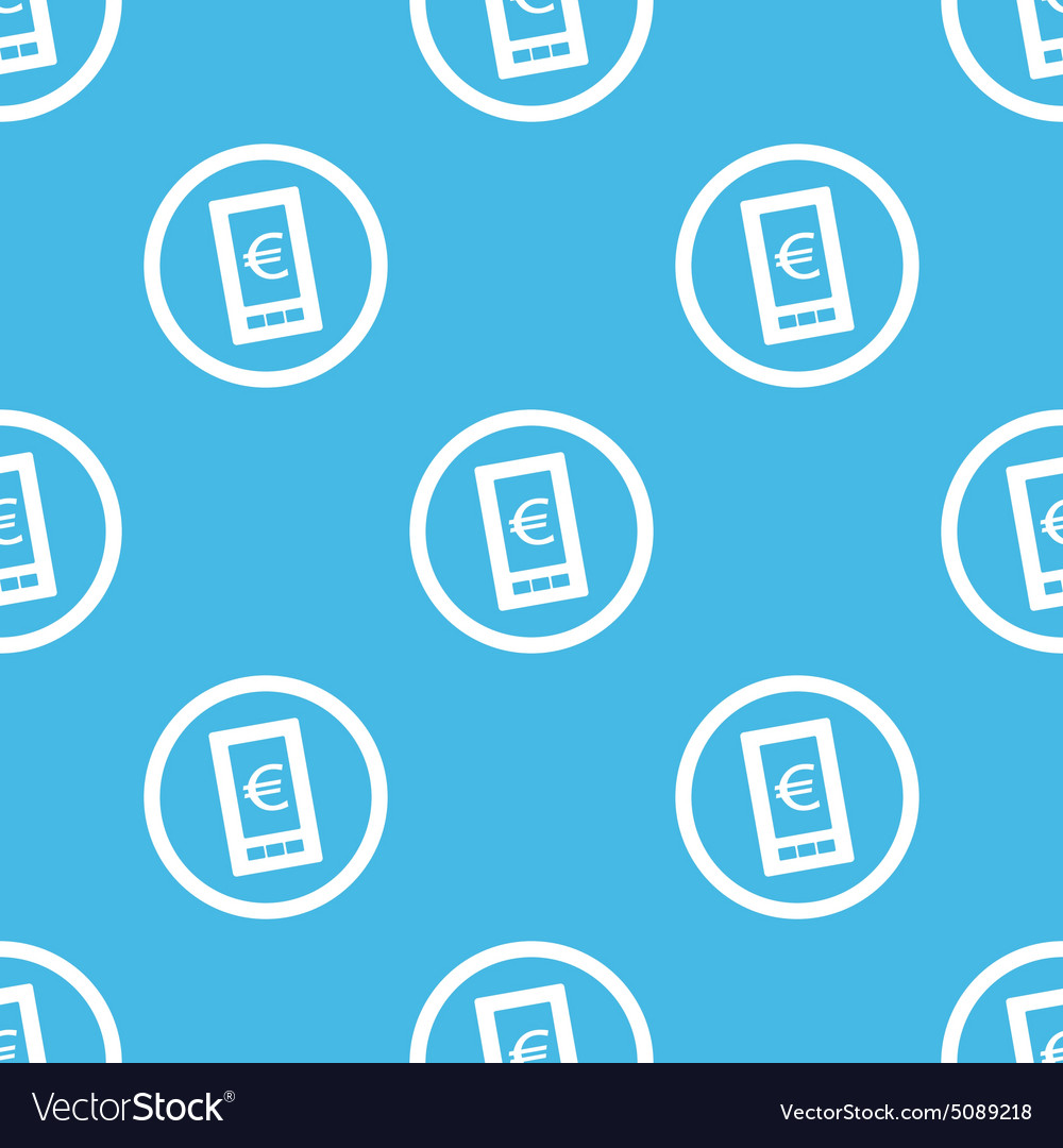 Euro screen sign blue pattern vector