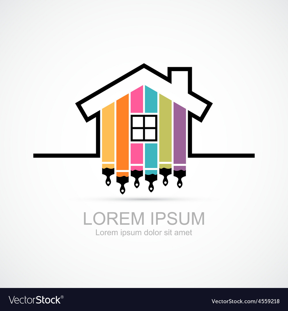 House renovation icon vector