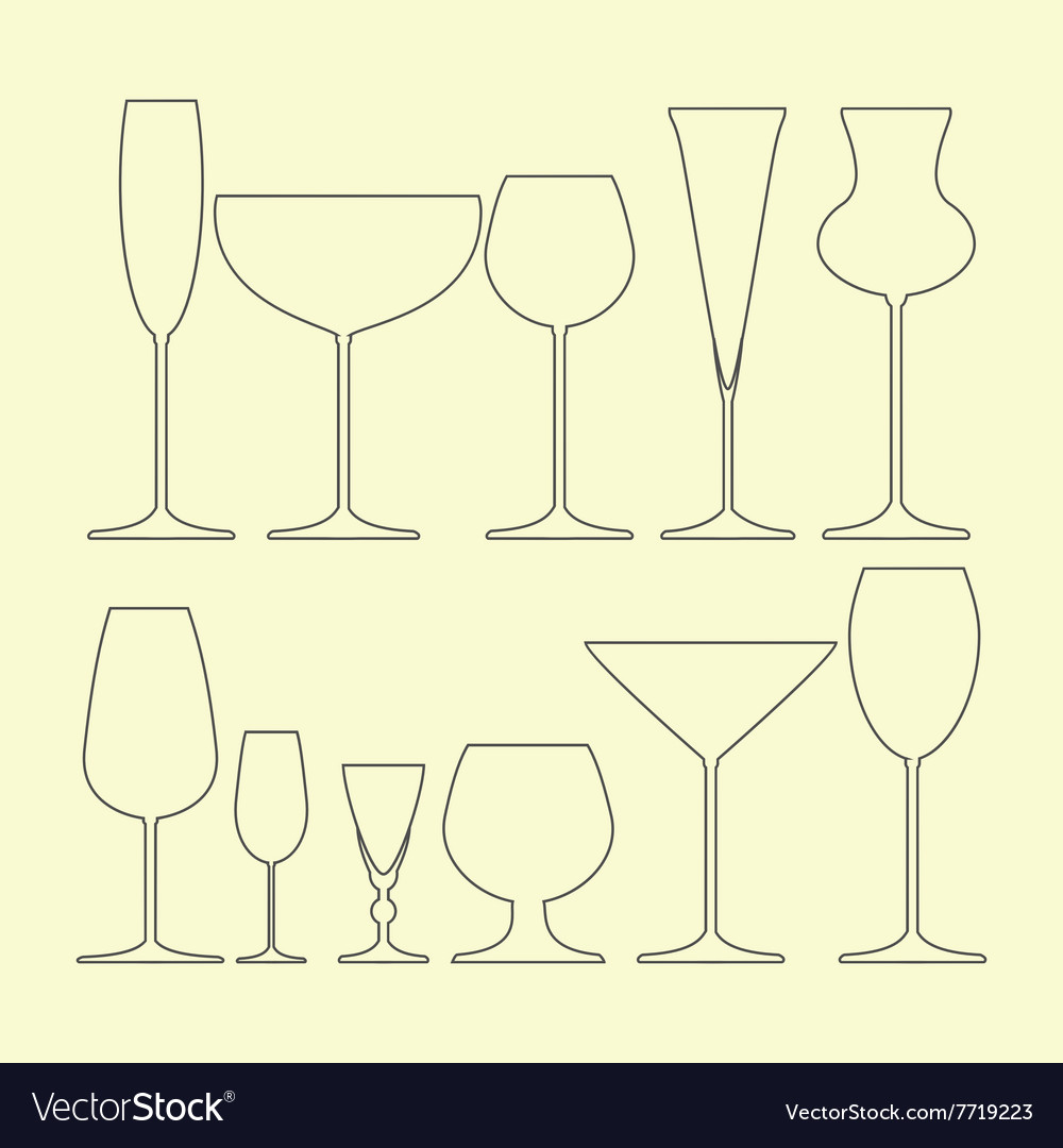 Glasses set icon vector