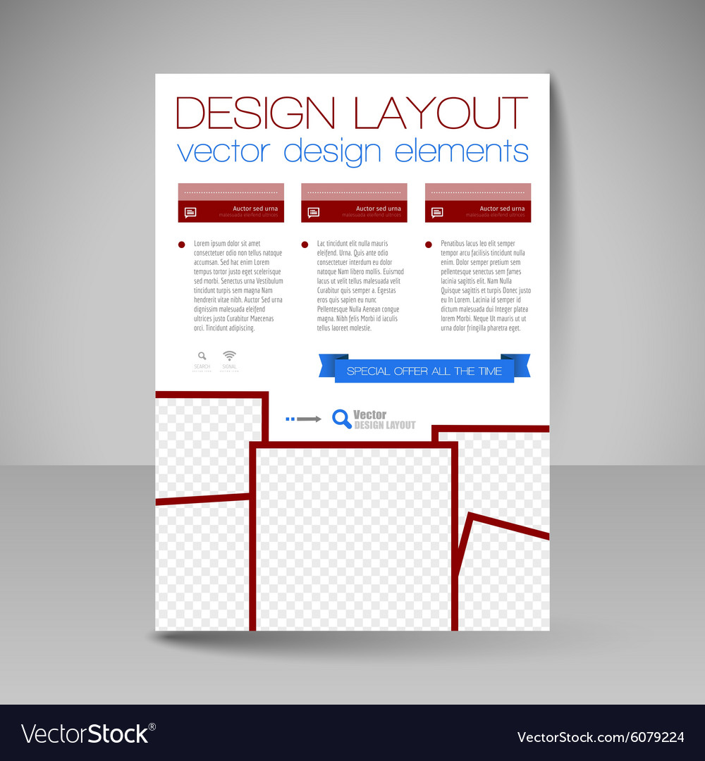 Site layout for design  flyer vector