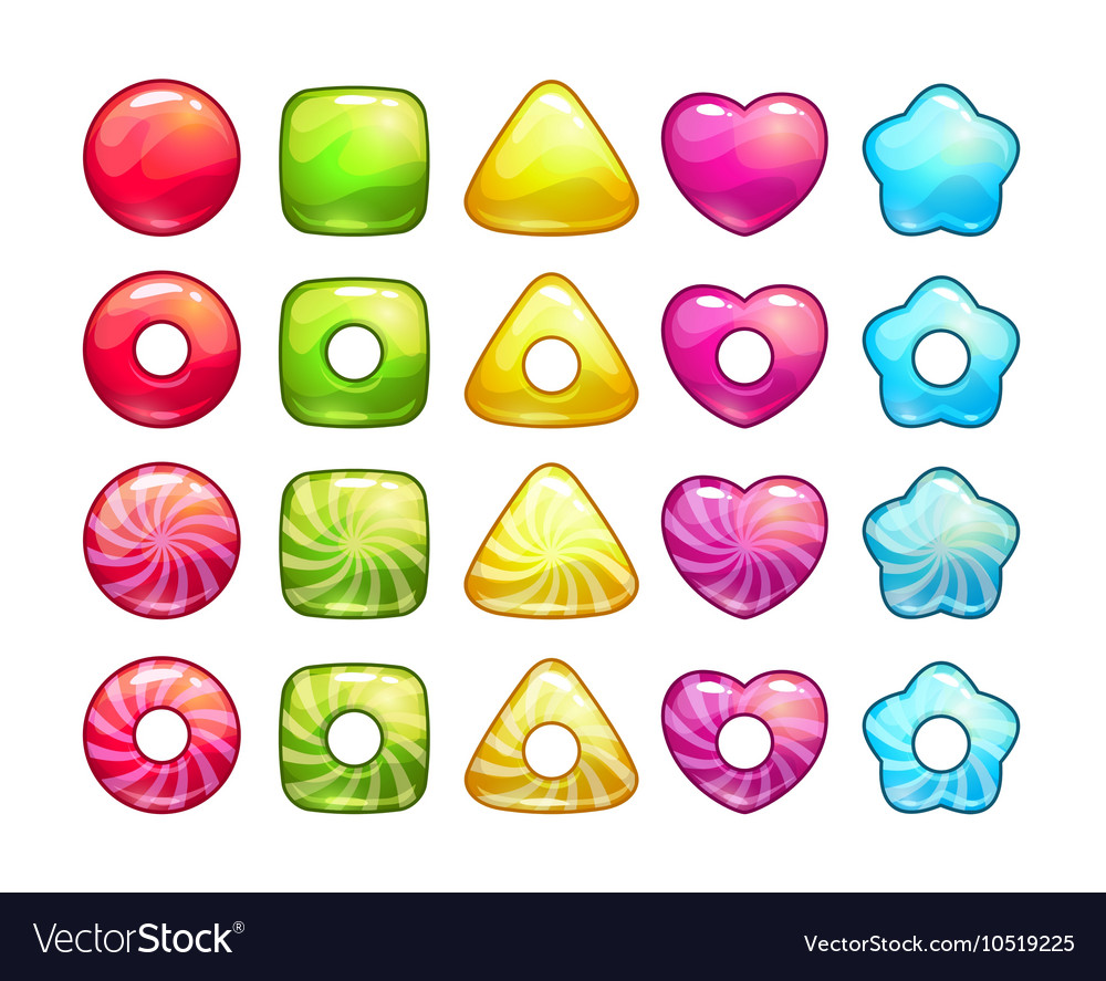 Colorful candy set vector