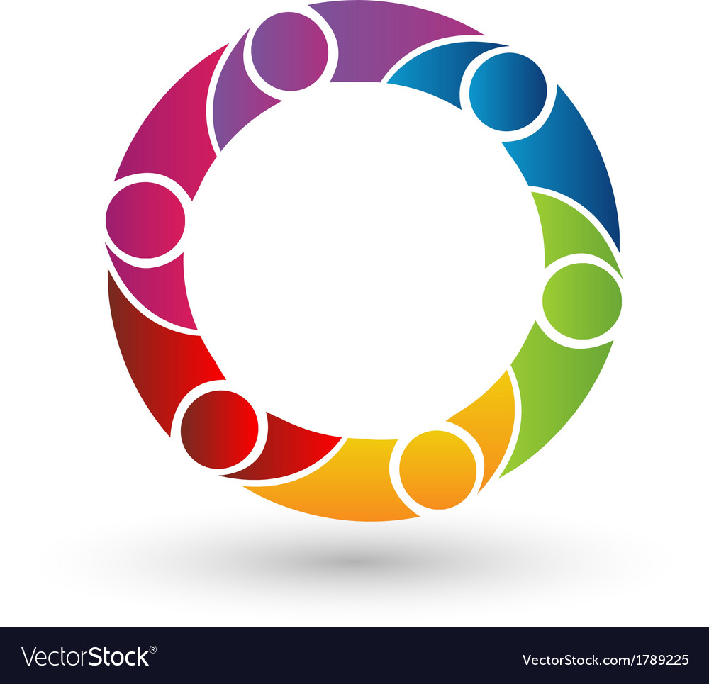 Teamwork business network logo vector