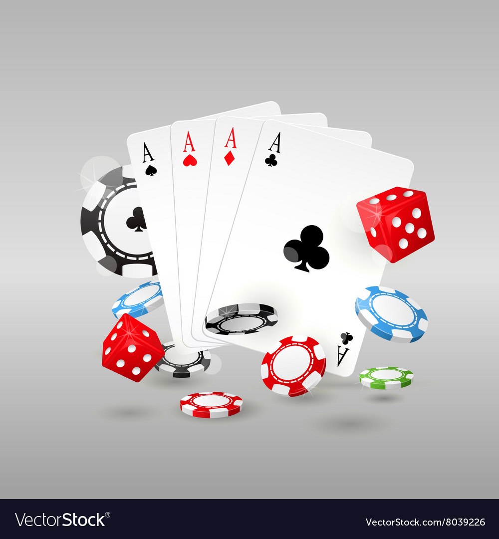 Gambling and casino symbols  poker chips vector