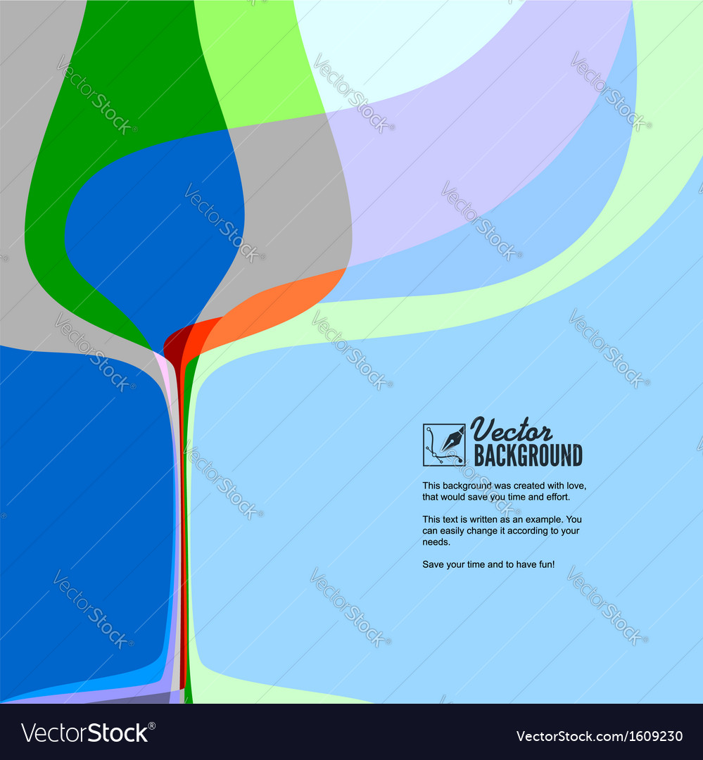 Abstract with silhouette of wine glass vector